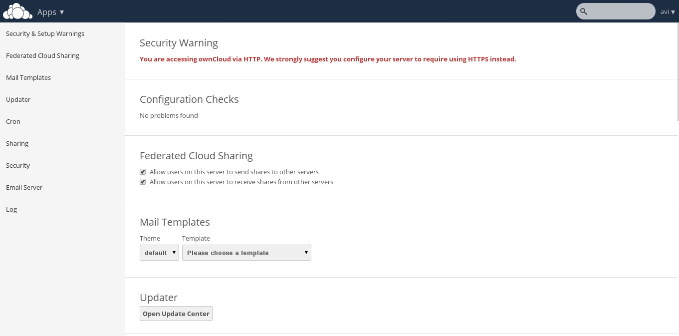 Owncloud security warning .htaccess