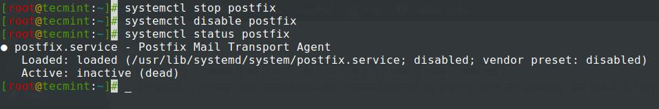 Stop Postfix Service