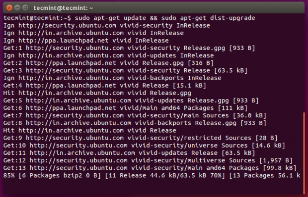 Upgrade Ubuntu Package Database