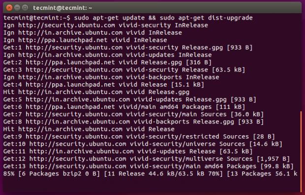 Upgrade Ubuntu Package Database