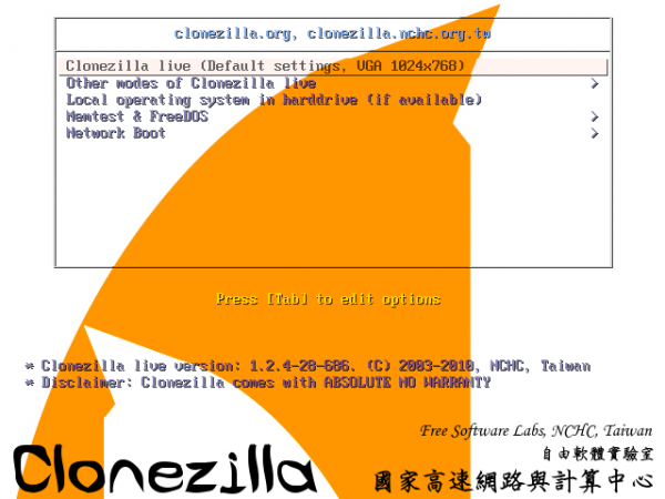 Clonezilla for Linux