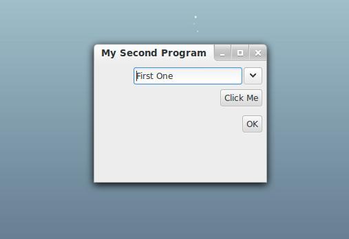 Gtkdialog Select Box