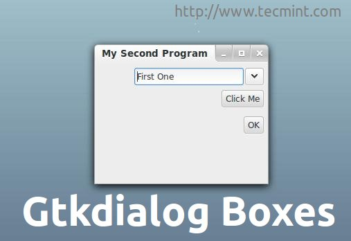 Gtkdialog - Create Graphical (GTK+) Interfaces and Dialog