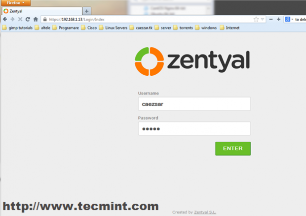 Zentyal Admin Login