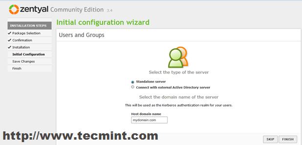 Select Server Type