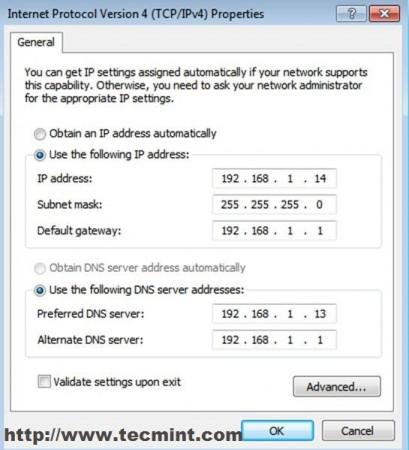 Enter Network Details