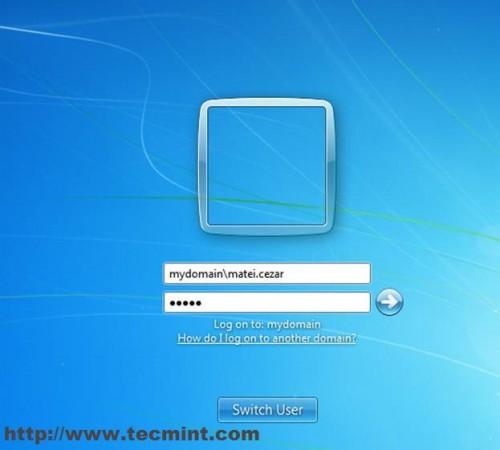 Enter Domain Admin Details