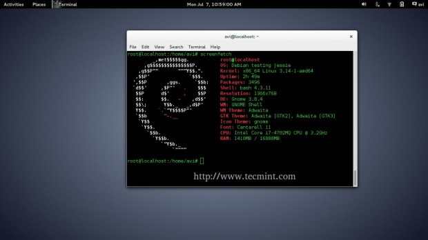 Install ScreenFetch in Linux