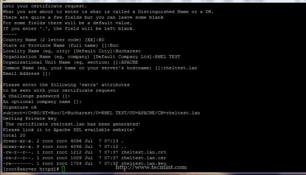 Apache SSL Pairs