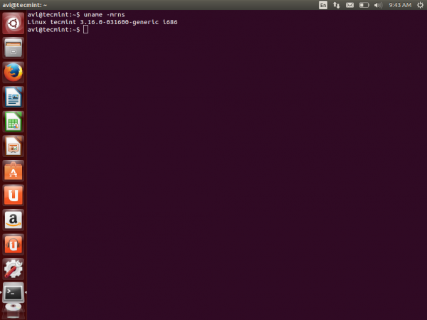 Check Kernel Version in Ubuntu