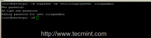 Create Icinga Admin Password