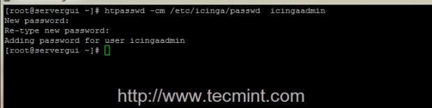Create Icinga Admin Password