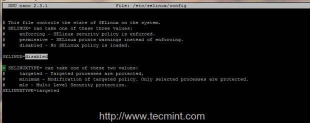 Disable SELinux in CentOS