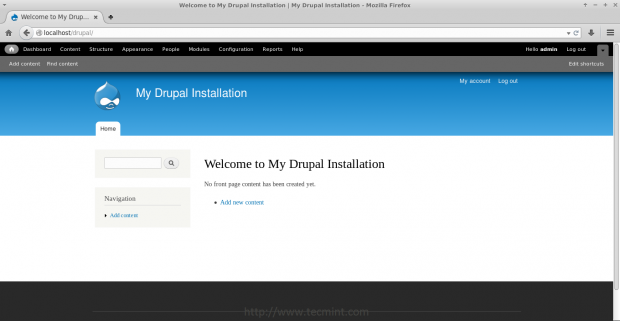 Drupal Front Site View