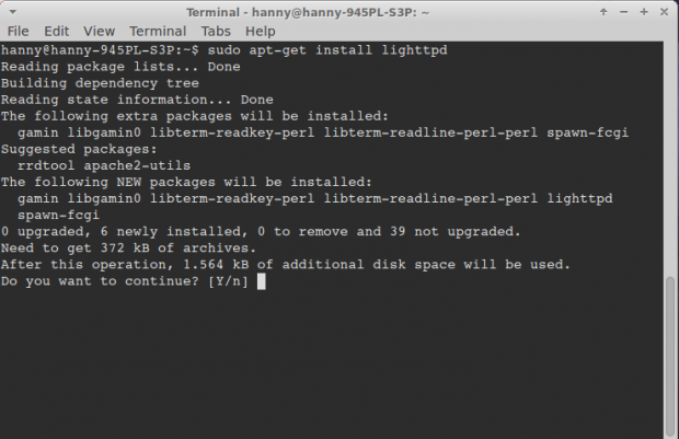 Install Lighttpd in Ubuntu
