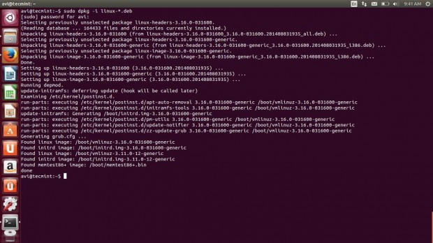 Kernel Package Installation