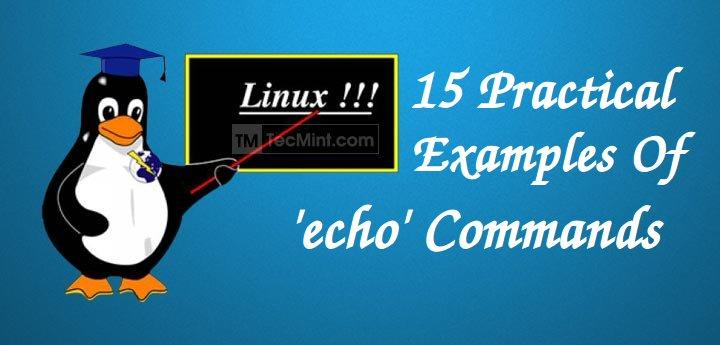 Linux echo Commands