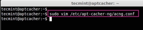 Open Apt Cache Configuration File