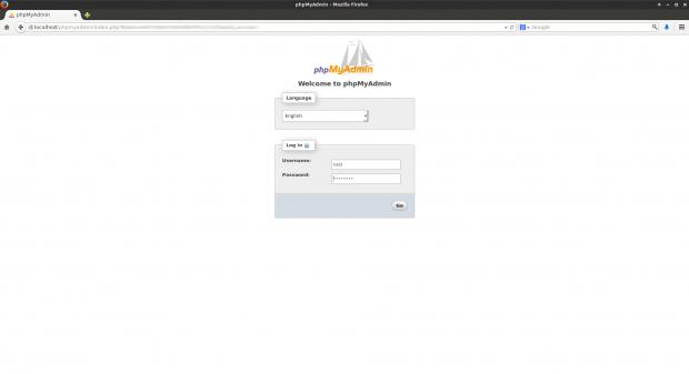 PhpMyAdmin Web Access