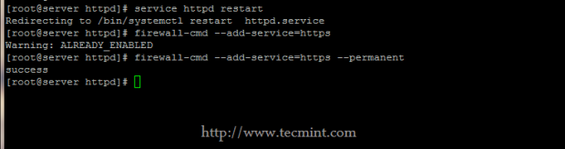 Restart Apache Service on CentOS