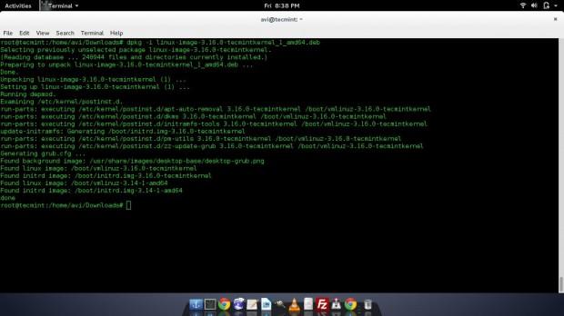Install Kernel Image in Debian