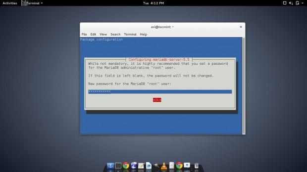 Set MariaDB Password