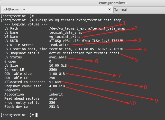 How to Take 'Snapshot of Logical Volume and Restore' in LVM