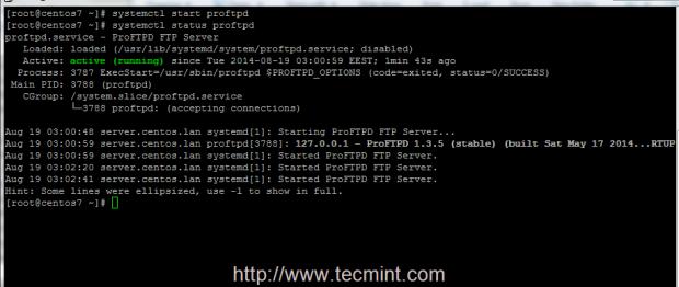 Start Proftpd Server