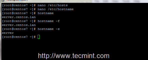How to Check Hostname in CentOS