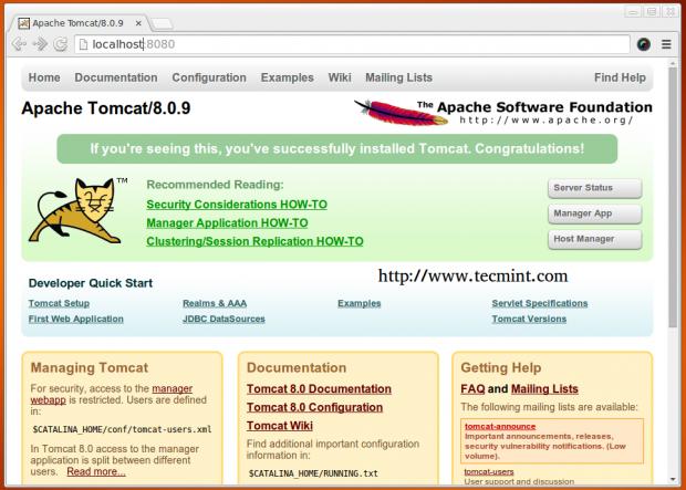 Check Apache Tomcat Running