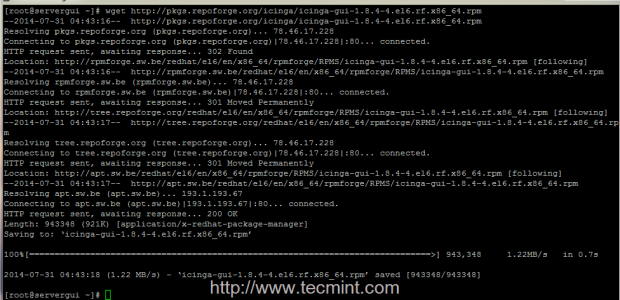 Install Icinga RPM Package