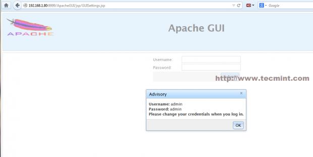 Access ApacheGUI Web Panel