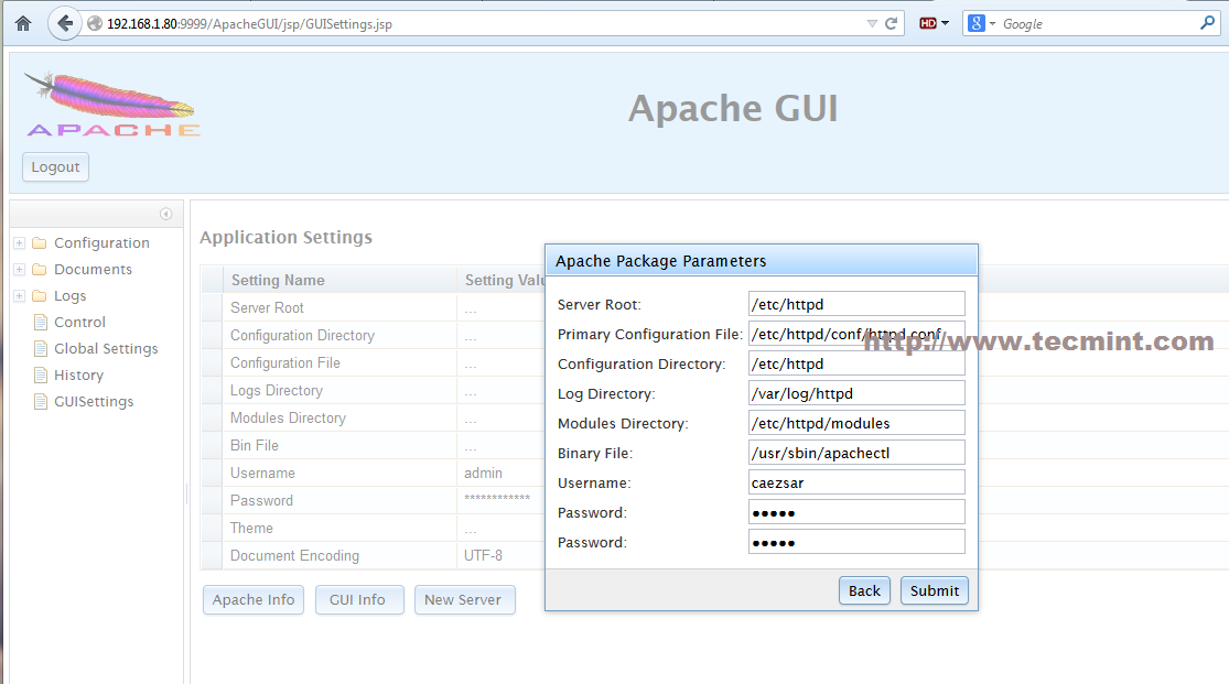 Configure Manage And Monitor Quot Apache Web Server Quot From Web