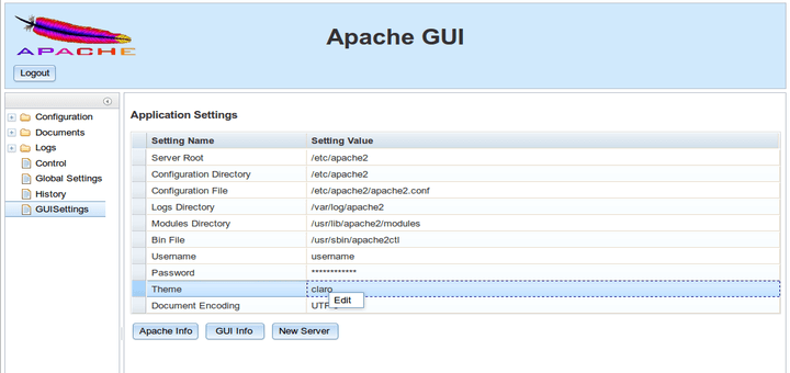 Apache Web Administartion Tool for Linux