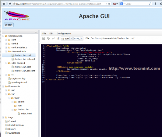 ApacheGUI VirtualHosts