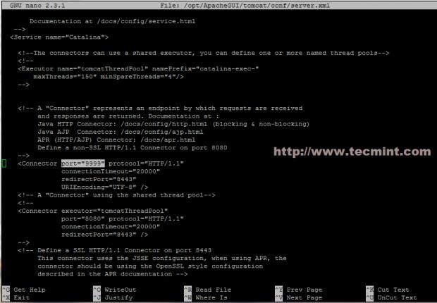 Change Port of ApacheGUI