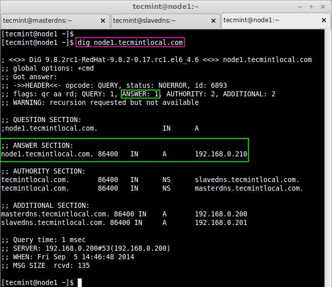 Setup Master-Slave DNS Server Using