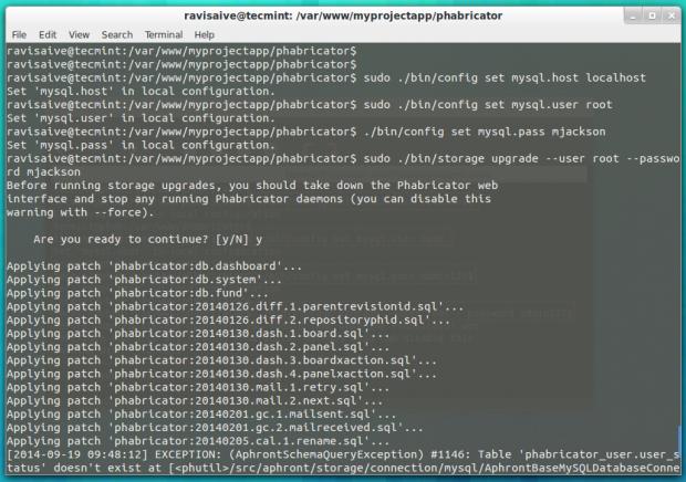 Configure MySQL for Phabricator