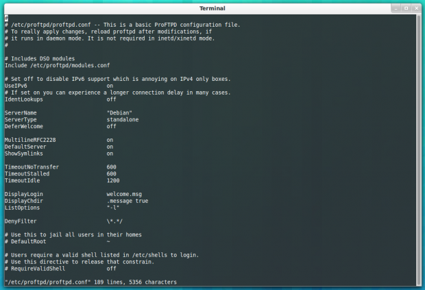 Configure Proftpd in Ubuntu