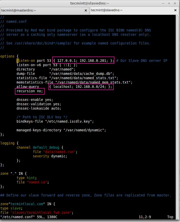 Configure Slave DNS