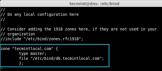Create Zone in DNS
