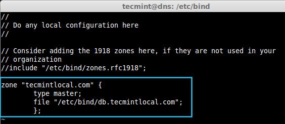 Create Zone in DNS