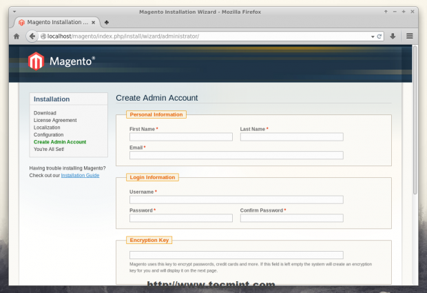 Create Magento Admin