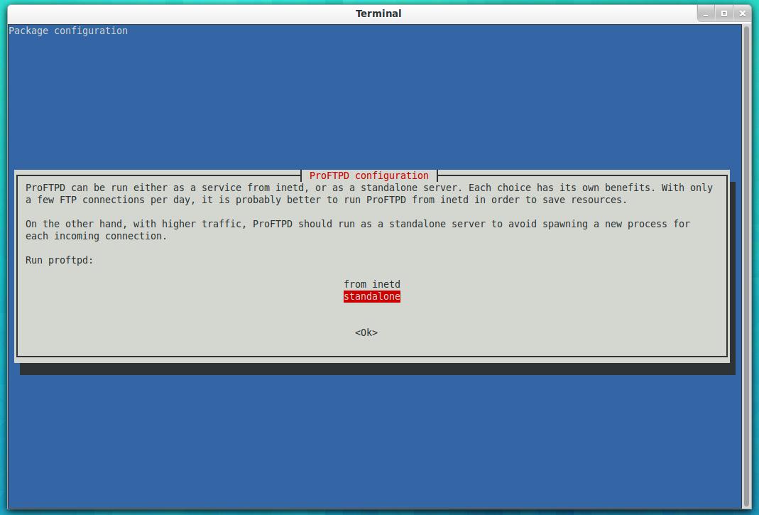 install filezilla server ubuntu 16.04 terminal