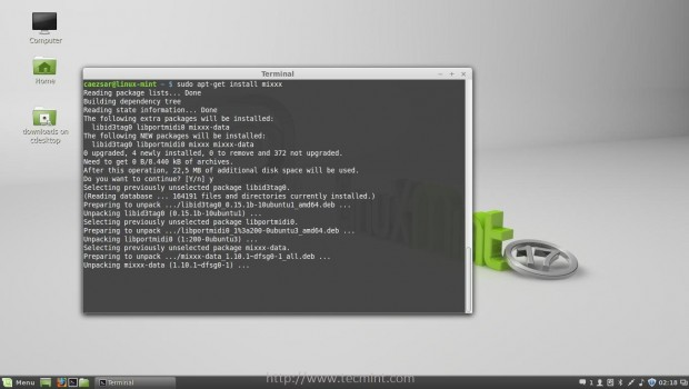 Installing Mixxx Package