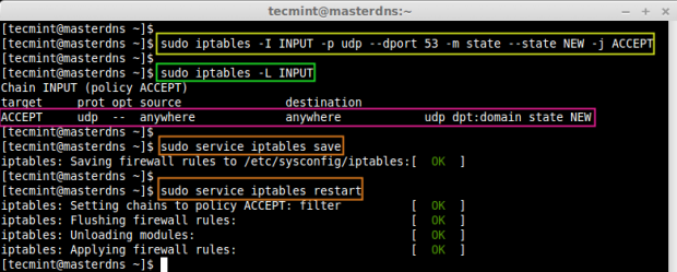 Open DNS Port on Firewall