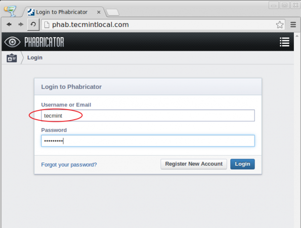Phabricator Login