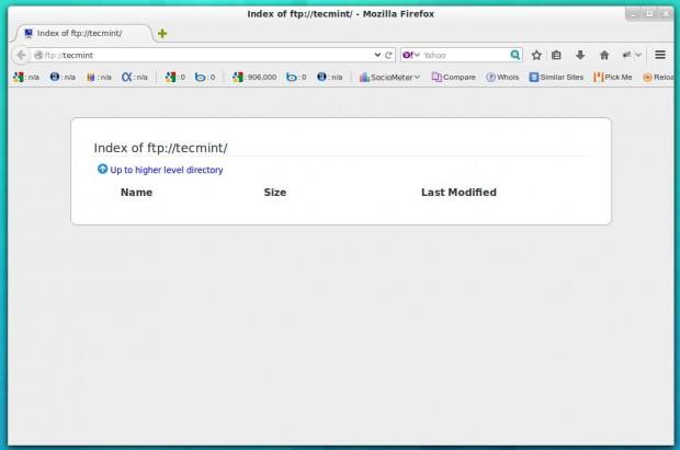 Proftpd Directory Listing