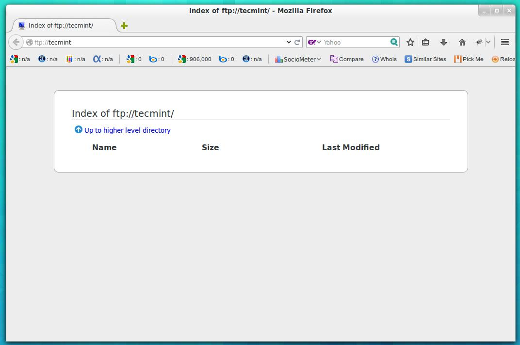 ProFTPD Sever configuration   Anonimous FTP   CP    Positive     Custom Query     FileZilla