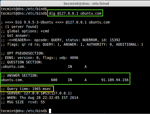 Setting up a Caching DNS Server in Ubuntu Server 14 04